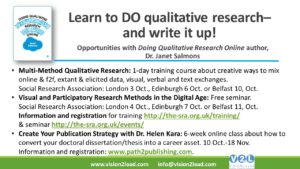 Learn to DO Qualitative Research– and write